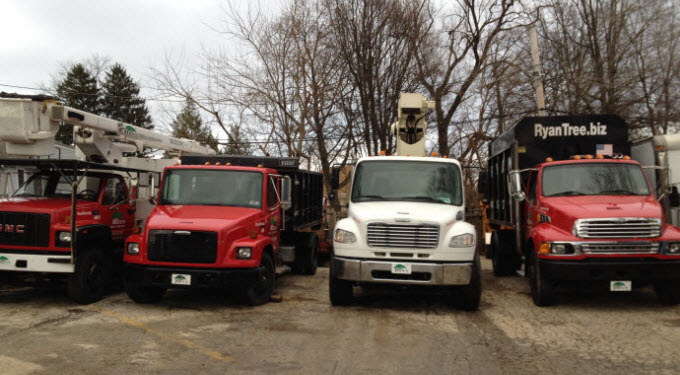 Ryan Tree & Landscaping | Equipment Pic 3 - Trucks